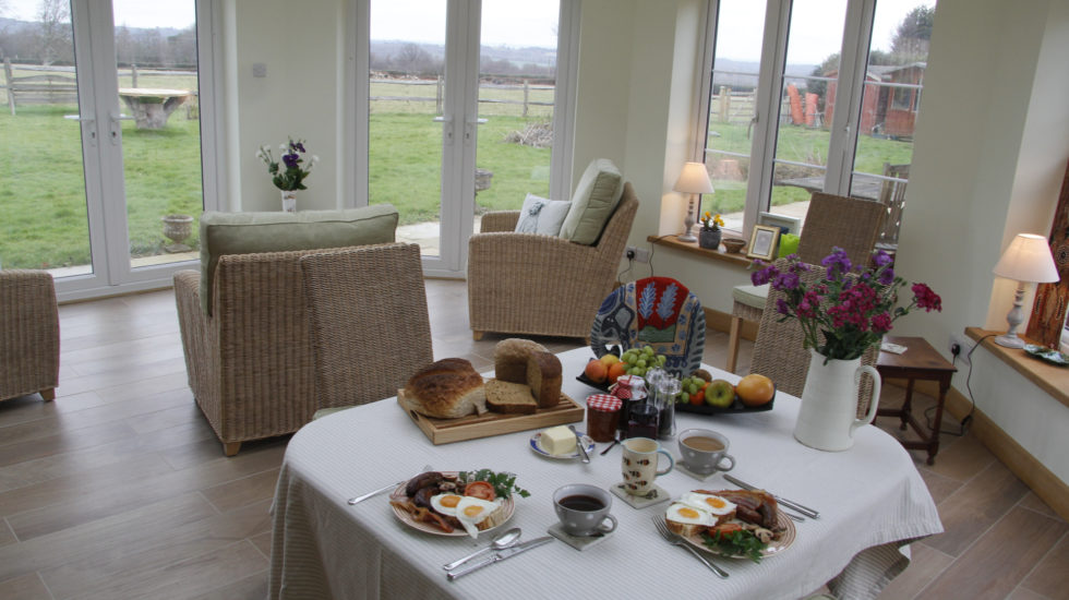 Bewl Rookery garden room breakfast