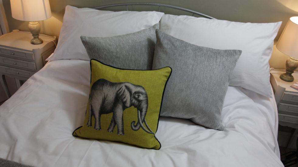 luxurious linen double bedroom