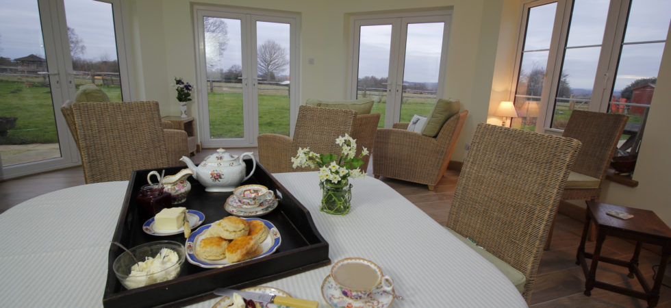 welcome tea with fresh scones