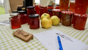 A collection of homemade jams from our orchard and hedgerow fruits.