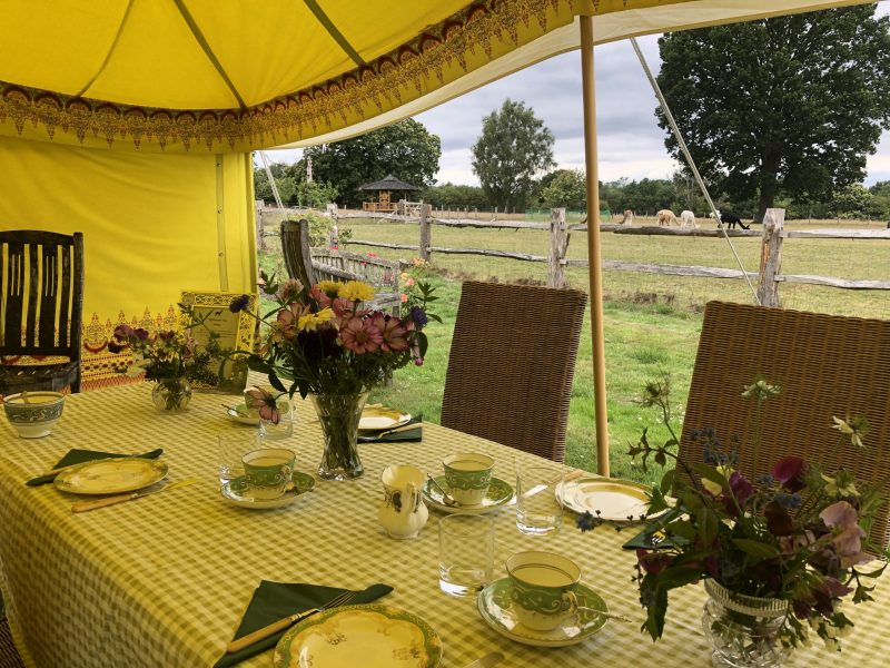Bewl Rookery Afternoon Tea Tent